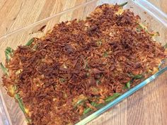 GREEN BEAN CASSEROLE WITH A TWIST http://anastasiapollack.blogspot.com/2018/01/cooking-with-cloris-green-bean.html
