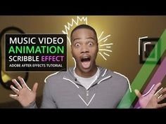 Music Video Scribble Animation Tutorial (After Effects CC) Motion Design, Adobe After Effects Tutorials, Blender Tutorial, After Effect Tutorial, Video Effects, Animation Tutorial, Website Design Inspiration, Video Editing, Photo Editing