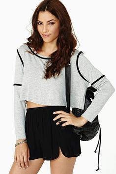 Dark Lines Crop Tee in What's New at Nasty Gal