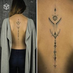 Back tattoo - Ink - Tattoo Lotusblume Tattoo, Tattoo Son, Tattoo Style, Tattoo Life, Back Tattoo Women Spine, Back Tattoos Spine, Tattoo On Back, Back Tattoos For Women, Tribal Tattoos For Women