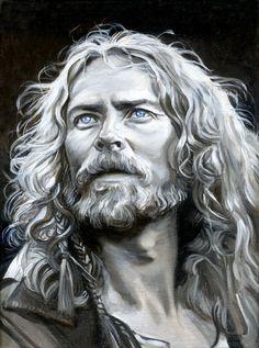 Jahn Storhøi as the northman Herger from the movie 13th warrior