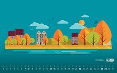 Календарь Октябрь 2017