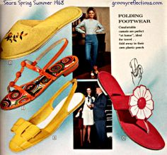 Your footwear needs to be GRooovy too ...not to mention 100% mod! #Sears…