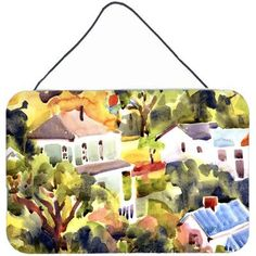 Caroline's Treasures Houses by Coe Steinwart Painting Print Plaque