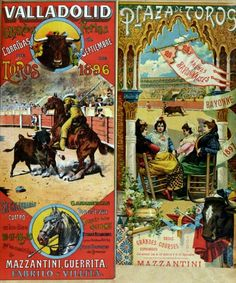 Posters Advertising Bull-Fights in Valladolid, and in Bayonne, 1897 (1896)