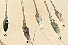 Crystal Pendants Crystal Necklaces Heal by CelestialMerchant