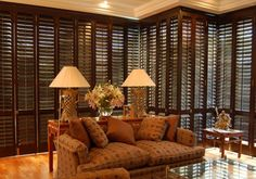 CONTROL  Plantation Shutters allow you to control the amount of light or privacy you require at any time. Although not used as a security device, when Plantation Shutters are closed they will add to the security of the property as access will be hampered.