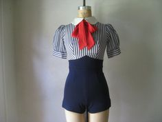 vintage 1950s sailor playsuit $298.00 - I would never wear this, but it's super cute! Like little kid cute.
