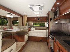 Lance 1685 Travel Trailer - If you& looking for more living space and storage the 1685 was made for you. Kitchen Metal Wall, Kitchen Wall Panels, Kitchen Cupboard, Small Truck Camper, Off Road Camper Trailer, Small Campers, Rv Living, Tiny Living, Living Spaces