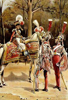 Timbalier et trompettes du régiment en grande tenue (peinture de Bronisław…