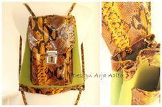 Woolfelt and leather. Book Purse, Bag Making, Purses And Handbags, Bucket Bag, City, Leather, Design, Fashion, Moda
