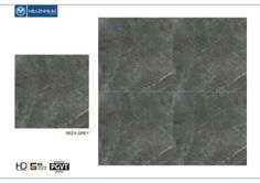 #Ibiza #Grey - Millennium Tiles 600x600mm (24x24) Digital PGVT #Porcelain Floor #Tiles   Technical Data: - Quantity/Box: 4 Tiles - Thickness/Tile: 10mm - Water absorption: < 0.1% - Coverage area/Box: 1.44m² - Weight/Box: 31.5kg - 69.45lbs - Appearance: Polished
