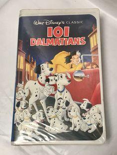 Vintage Walt Disney Black Diamond VHS 101 Dalmatians opened W/original Paperwork