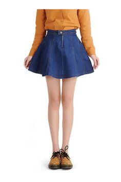 A-line Mini Denim Skirt