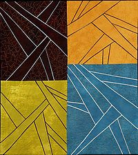 "Drawing the Line by Janet Steadman (Fiber Wall Art) (30"" x 27"")"