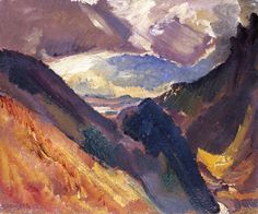 David Bomberg - Storm Clouds in the Spanish Mountains (1936)