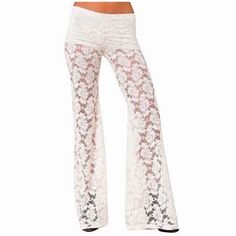 004e7fde6c2 NIGHTCAP Stretchy Lace Pants Floral Flares Bells Size XS. Brand New With  Tags. •