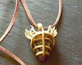 gold polymer pendant with morganite gem stone heals stress and anxiety Energies to help confidant and peace