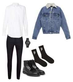 """""""Untitled #63"""" by denisa-gabriela on Polyvore featuring Topman, Dolce&Gabbana, FOSSIL, 21 Men, Fear of God, men's fashion and menswear"""