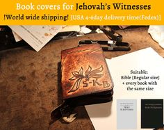 Browse unique items from JWbiblecover on Etsy, a global marketplace of handmade, vintage and creative goods. Christian Love, Jehovah's Witnesses, Leather Cover, Handmade Leather, Book Covers, Warm, Unique, Creative, Happy