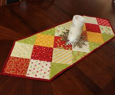 Christmas Charms Table Runner Quilt by QuiltSewPieceful on Etsy, $30.00