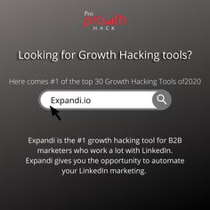 Expandi is a growth hacking tool for B2B marketers who work a lot with LinkedIn. Expandi gives you the opportunity to automate your LinkedIn marketing. You can automatically view profiles, send people invites, or send messages based on the characteristics of your ideal customer. #growthhacking #growthmarketing #tools #growthmarketingtools #advanceddigitalmarketing #progrowthhack Marketing Ideas, Marketing Tools, Digital Marketing, Growth Hacking, Send Message, Invites, Ecommerce, Opportunity, Hacks