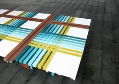Bench 10 by The Lollipop Shoppe at London Design Festival. love this color combo! is it a bench or a piece of art? Cool Furniture, Furniture Design, Retro Furniture, Outdoor Furniture, Home Decor Inspiration, Design Inspiration, Design Ideas, London Design Festival, Bench Designs