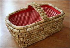 Cool Wine Cork Basket