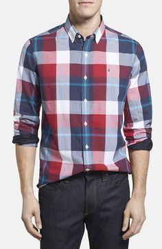 Men's Victorinox Swiss Army 'Trent' Tailored Fit Plaid Sport Shirt