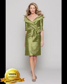 Watters C20 2435 Dupioni Silk Portrait Collar Dress
