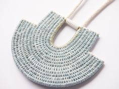 Image of Woven Rope Necklace with Porcelain #5