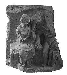 In Gallo-Roman religion, Rosmerta was a goddess of fertility and abundance, her attributes being those of plenty such as the cornucopia. Rosmerta is attested by statues, and by inscriptions. In Gaul she was often depicted with the Roman god Mercury as her consort, but is sometimes found independently.