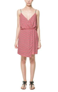 Image 1 of PRINTED DRESS WITH ASYMMETRIC SKIRT from Zara