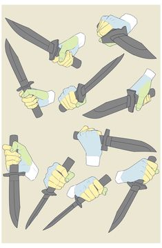 Holding A Knife Reference By Moa #hand #drawing #reference #holding #knife #handdrawingreferenceholdingknife Knife Drawing, Hand Drawing Reference, Drawing Reference Poses, Dagger Drawing, Drawing Body Poses, Hand Pose, Poses References, Drawing Expressions, Digital Art Tutorial