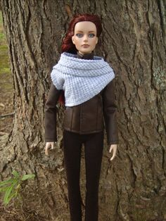 """Katniss Everdeen Hunting Outfit for Tonner Dolls from """"The Hunger Games: Catching Fire"""" - by Morgan May @ Stardust Dolls - http://www.stardustdolls.com"""