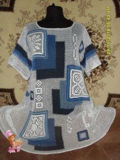 Crochet ideas that you'll love Freeform Crochet, Filet Crochet, Hand Crochet, Crochet Lace, Crochet Flower Patterns, Crochet Designs, Crochet Flowers, Crochet Cardigan, Crochet Fashion