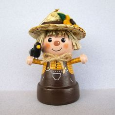 Scarecrow FlowerpotBell Ornament by sanquicreations on Etsy, $8.99