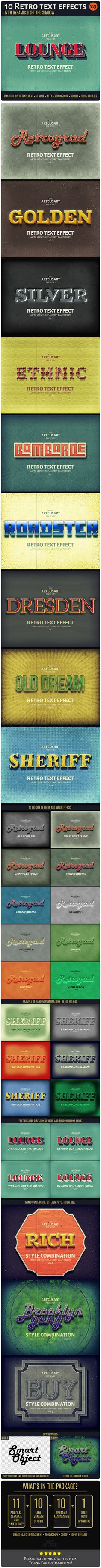 10 Retro Text Effect for Photoshop. Download: http://graphicriver.net/item/10-retro-text-effect-v3/12342867?ref=ksioks