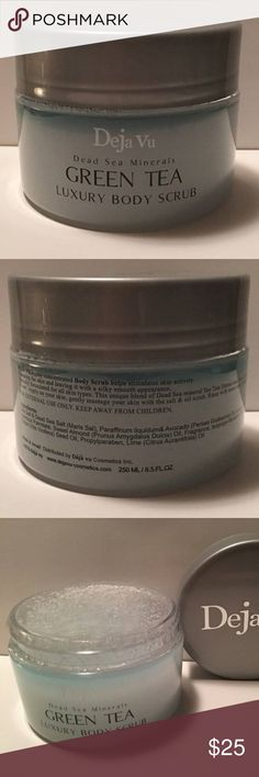 Deja Vu Dead Sea Minerals Green Tea Body Scrub This is a Deja Vu Dead Sea Minerals Green Tea Luxury Body Scrub 8.5 oz Jar. The Expiration Date is 02/2019. It comes in new sealed condition as seen in the pictures.  SUP#2 Makeup