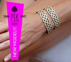 NEW MODELLeather Bracelet cuff Leather Cuff Ladies by PikBracelet
