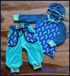 Seepferdchen Pedro von #ASTROKATZE Nähbeispiel & Foto von http://manjipuh.blogspot.de #Pumphose #Hoodie #Milchmonster #fabric #pattern