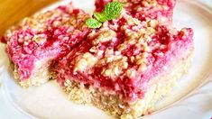 Lemon-Raspberry Oatmeal Crumb Bars Recipe - Allrecipes.com Raspberry Bars, Raspberry Desserts, Lime Desserts, Easy Desserts, Delicious Desserts, Dessert Recipes, Tea Recipes, Dinner Recipes, Desert Recipes