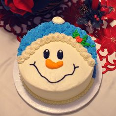easy snowman face cakes to make | The Bake More: Snowman Face Cake