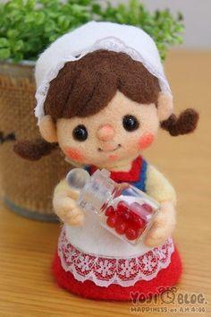 【YOJI BLOG】♥ Felt Wool Doll:
