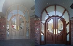 Front Door Makeover Work performed by Furniture Medic by Restoration Specialists in Westbury, NY