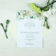 Invitación de boda VIENA Summer Of Love, Place Cards, Place Card Holders, Vienna, Weddings, Flowers, Projects
