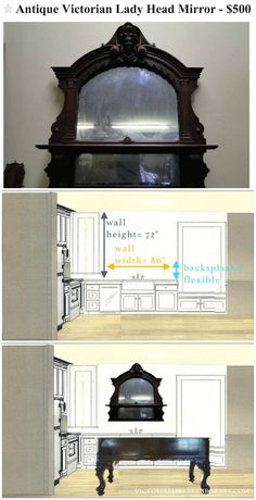 Using salvaged and repurposed materials for our DIY kitchen remodel… we are restoring an old Victorian house, and I want the kitchen remodel to be unfitted and full of interesting pieces to complement our antique PIANO ISLAND.