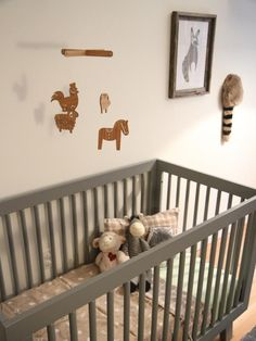 Instead of attaching baby's mobile to the side of the crib, make it a little more sturdier by mounting it to the ceiling.