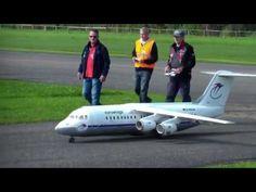 Giant BAe Avro RJ100 Turbine RC Model Airliner Hausen Airport 2016