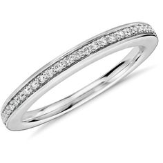 Blue Nile Colin Cowie Pave Diamond Ring (1,450 CAD) ❤ liked on Polyvore featuring jewelry, rings, platinum ring, blue nile rings, blue nile, blue nile jewelry and platinum jewelry